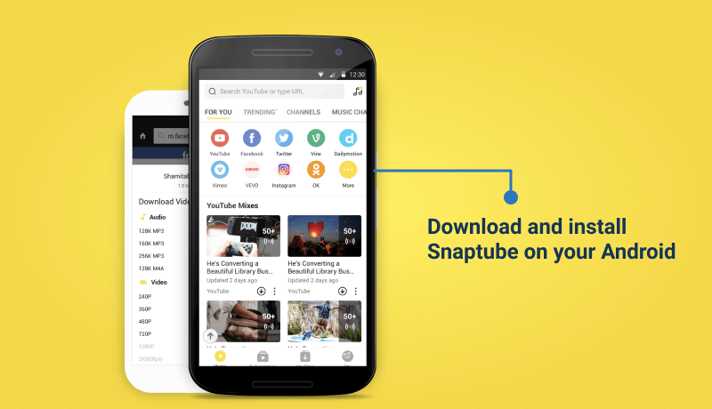 Download Snaptube To Save Your Instagram Videos On Your